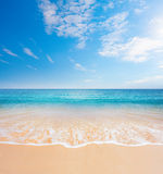Beach and tropical sea Royalty Free Stock Photo