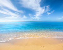 Beach and tropical sea Royalty Free Stock Photography