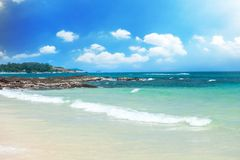 Beach and tropical sea- Royalty Free Stock Images