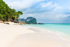 Beach in Tropical sea at Bamboo Island Krabi Province Stock Photo