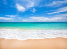 Beach and tropical sea. This is beach and tropical sea Royalty Free Stock Photography