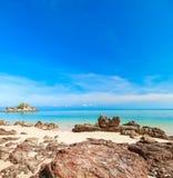 Beach and tropical sea. Beach, background, sand Stock Photography