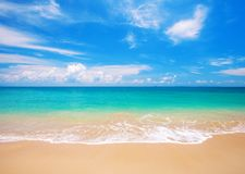Beach and tropical sea. This is beautiful beach and tropical sea Stock Photo