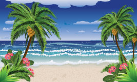 Beach and tropical sea Royalty Free Stock Photos