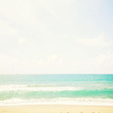 Beach and tropical sea,beautiful background. Royalty Free Stock Image