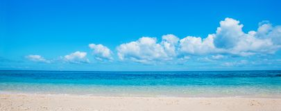 Beach and tropical sea. Beautiful landscape with white sand beach and tropical sea Royalty Free Stock Images