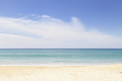 Beach and tropical sea,beautiful scenery background. Royalty Free Stock Image