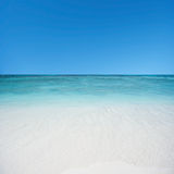 Beach and tropical sea. With blue sky royalty free stock photos