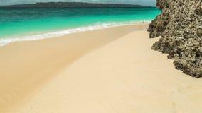 Beach and tropical sea on Boracay island, Philippines. 4K TimeLapse - August 2016, Boracay, Philippines stock video footage