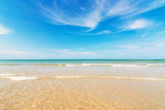 Beach and tropical sea. Landscape Royalty Free Stock Photography