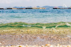 Beach and tropical sea. Sand beach and tropical sea at sunny day Stock Images