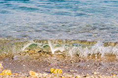 Beach and tropical sea. Sand beach and tropical sea at sunny day Royalty Free Stock Photos