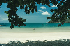 Beach and tropical sea. In Thailand Royalty Free Stock Image