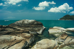 Beach and tropical sea. In Thailand Royalty Free Stock Photos