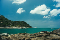 Beach and tropical sea. In Thailand Stock Image
