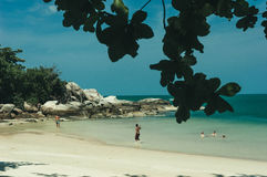 Beach and tropical sea. In Thailand Royalty Free Stock Photography