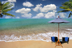Beach and tropical sea, Thailand. Beach and tropical sea. Tranquility of turquoise ocean. Thailand Stock Photo