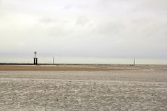 The beach of Trouville (Normandy France) Royalty Free Stock Images