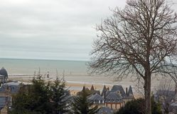 The beach of Trouville Trouville Deauville Normandie France Stock Images