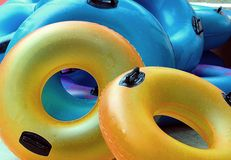 Beach Tubes royalty free stock images