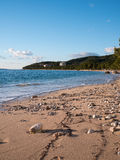 Beach in Tucepi at winter time Stock Images