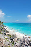 Beach at Tulum,Mexico Stock Photo