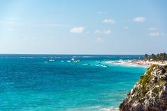 Beach in Tulum, Mexico Royalty Free Stock Photo