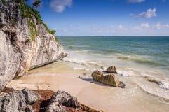 Beach in Tulum, Mexico stock photos