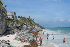 Beach in Tulum Stock Photography