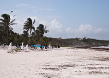 The beach of Tulum, Mexico Royalty Free Stock Photography