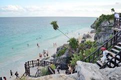 Beach in Tulum, Mexico. Stock Image