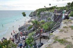 Beach in Tulum, Mexico. Stock Photography
