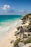 Beach in Tulum, Mexico Royalty Free Stock Photos