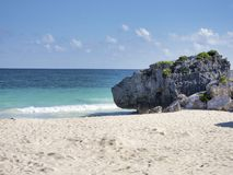 The beach of Tulum - Mexico royalty free stock images