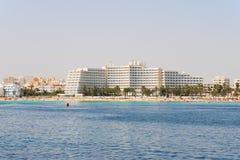 Beach in Tunisia. Scene at mediterranean beach resort in Tunisia Stock Photography