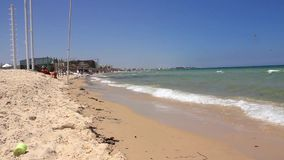Beach in Tunisia. Beach in Sousse, Tunisia stock footage