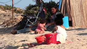 Beach in Tunisia stock video footage