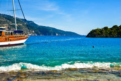 Beach in Turkey Stock Photography