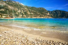 Beach in Turkey Royalty Free Stock Photography