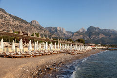 Beach in Turkey without a rest Stock Photos