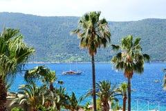 Beach on Turkish resort Stock Photography