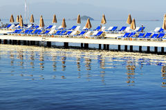 Beach on Turkish resort Stock Images