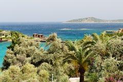 The beach at Turkish resort Royalty Free Stock Photo