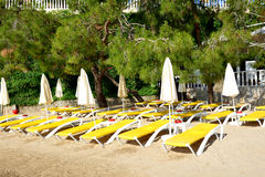 Beach on Turkish resort Royalty Free Stock Photography