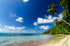 Beach and Turquoise Water Royalty Free Stock Photos