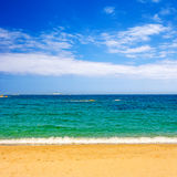 Beach with turquoise water Royalty Free Stock Images
