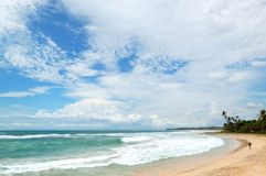 Beach and turquoise water of Indian Ocean Royalty Free Stock Images