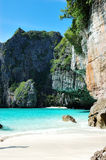 The beach and turquoise water of Indian Ocean Stock Image