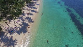 Beach with Turquoise Water on Samui Island in Thailand, Aerial View stock footage