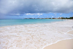 Beach and turquoise waters, barbados Royalty Free Stock Image